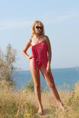 Сексуальная голая блондинка