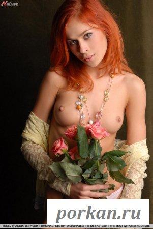 Если телочка разденется - ей цветы